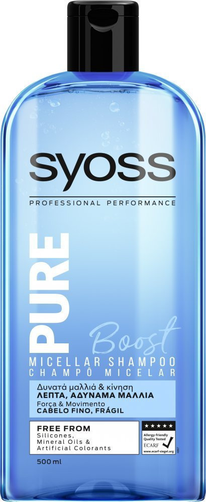 Syoss Pure Boost Σαμπουάν 500ml