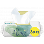 Pampers Pure Protection Coconut Μωρομάντηλα 3x42 Τεμάχια