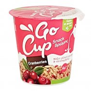 Go Cup Snack Βρώμης Cranberries 65gr