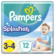 Pampers Πάνες Splashers Carry Pack 3-4 (12τεμ) 6-11 kg