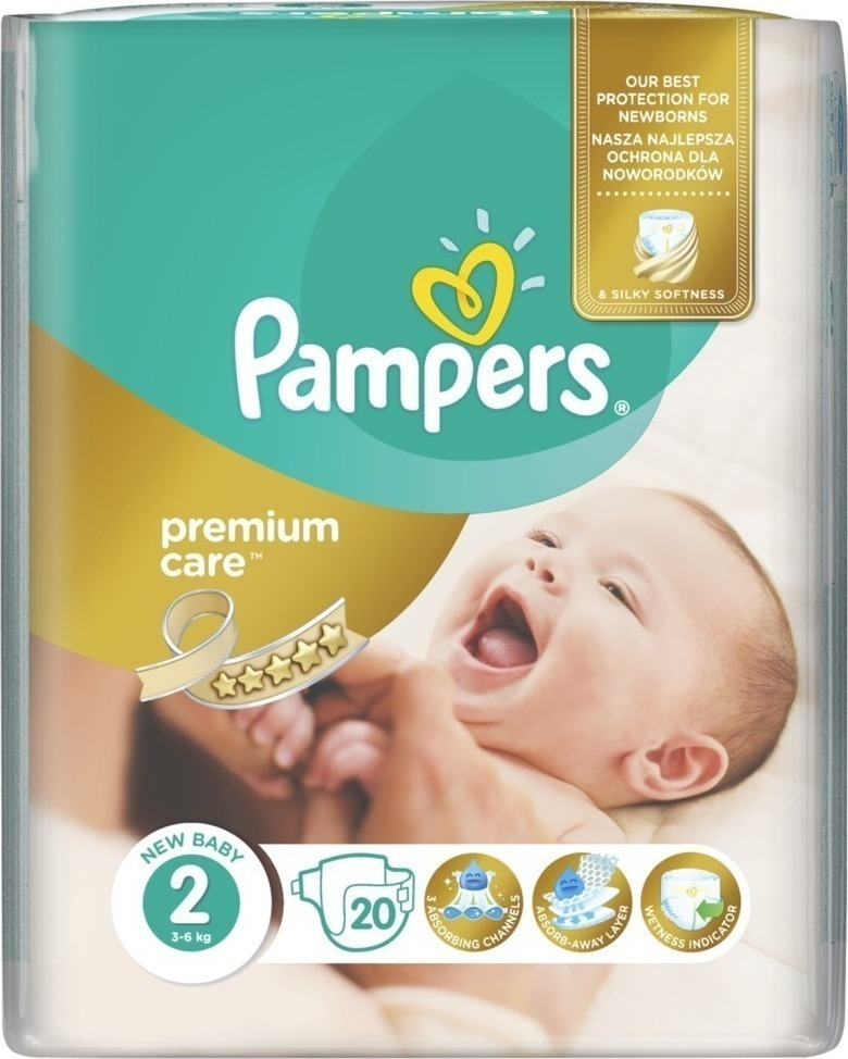 Pampers Πάνες Premium Care Carry Pack (20τεμ) Νo2 (3-6kg)