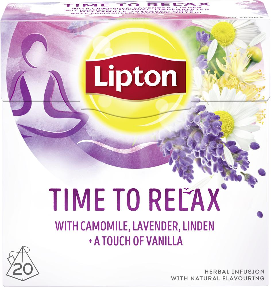 Lipton Τσάι Time To Relax Πυραμίδες 20 φακελάκια