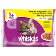 Whiskas Multipack Πουλερικά Σε Ζελέ 4x100gr
