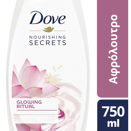 Dove Glowing Lotus Ντους 750ml