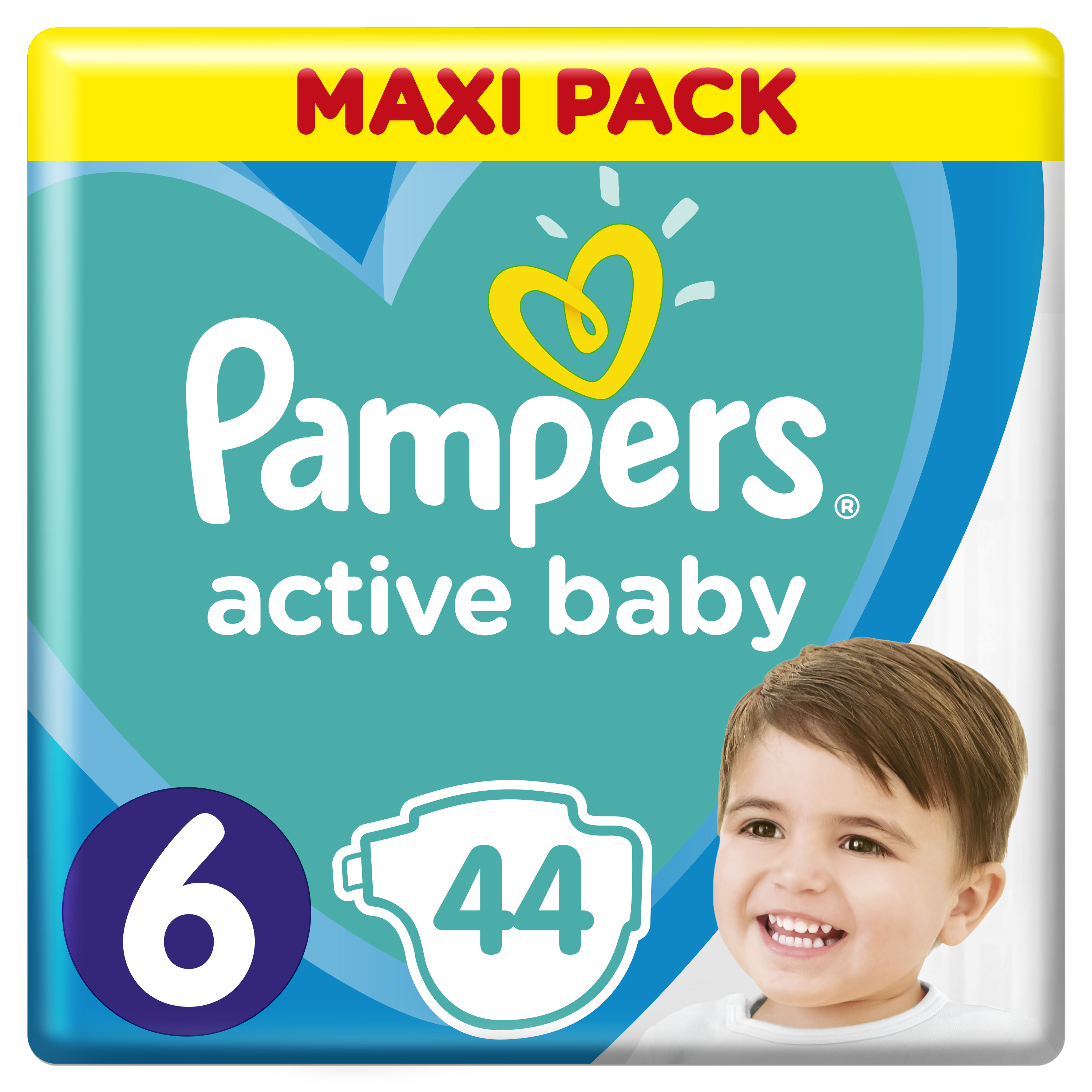 Pampers Πάνες Active Baby Maxi Pack(44τεμ) Νο6 (13-18kg)