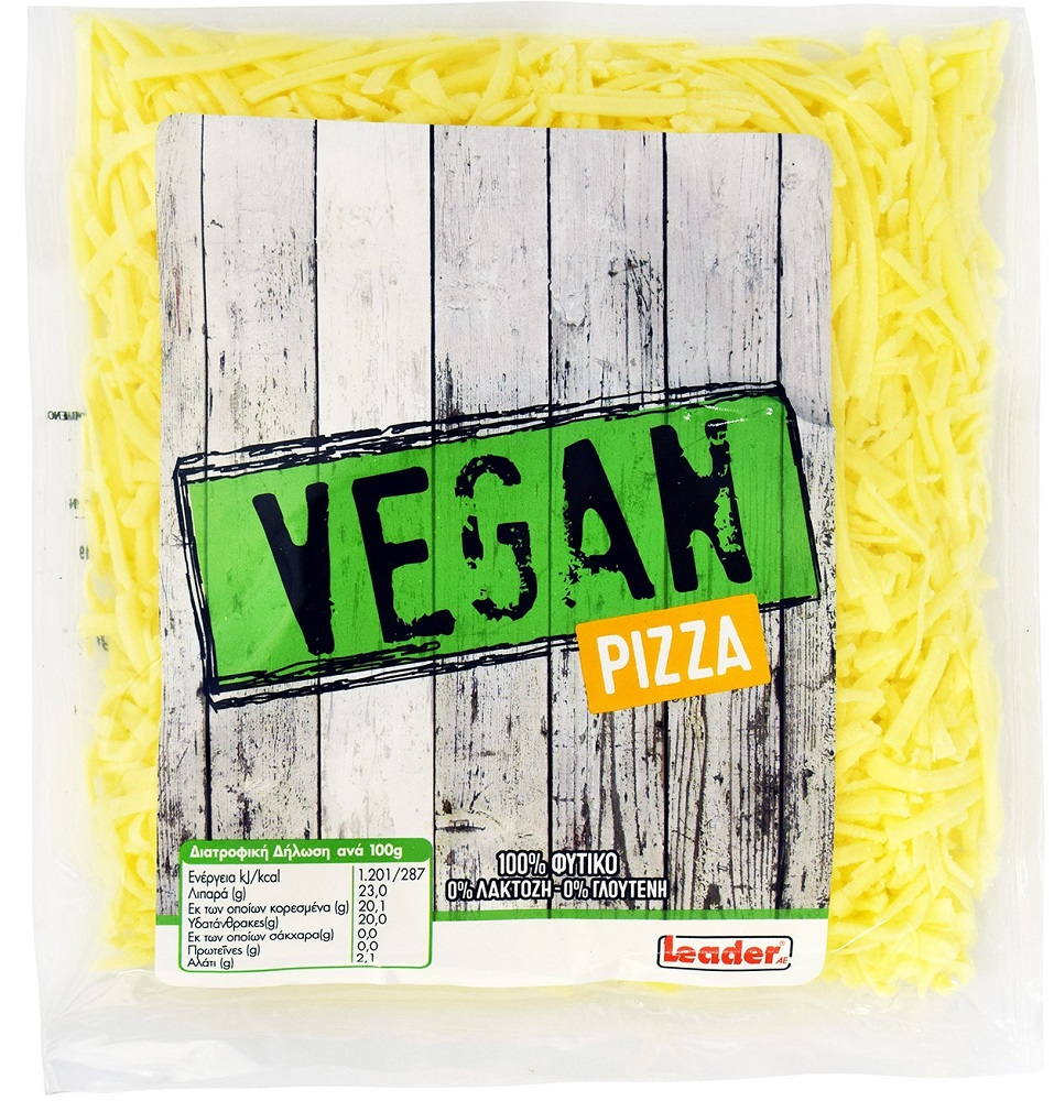 Leader Vegan Pizza Τριμμένο 200gr