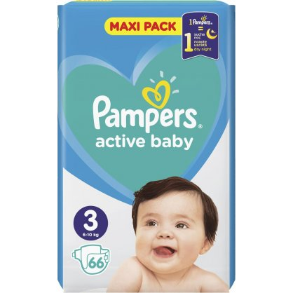 Pampers Πάνες Active Baby Maxi Pack (66τεμ) Νο3 (6-10kg)