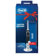Oral B Vitality Cross Action Black Επαναφορτιζόμενη Οδοντόβουρτσα+Θήκη