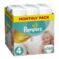 Pampers Πάνες Premium Care Monthly Box (168τεμ) Νο4 (8-14kg)