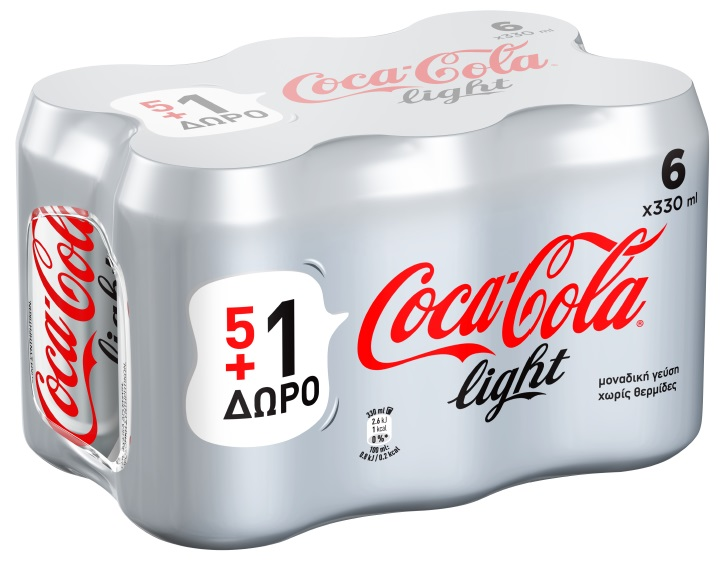 Coca-Cola+Light+330ml+5+%2B+1+%CE%94%CF%8E%CF%81%CE%BF