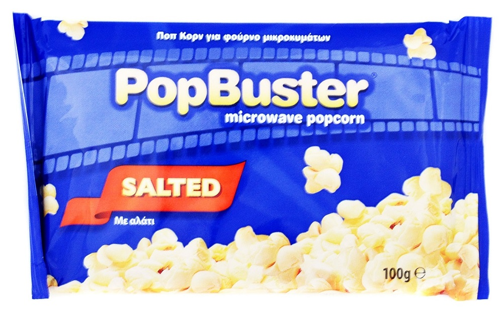 Popbuster Pop Corn Αλάτι 100gr