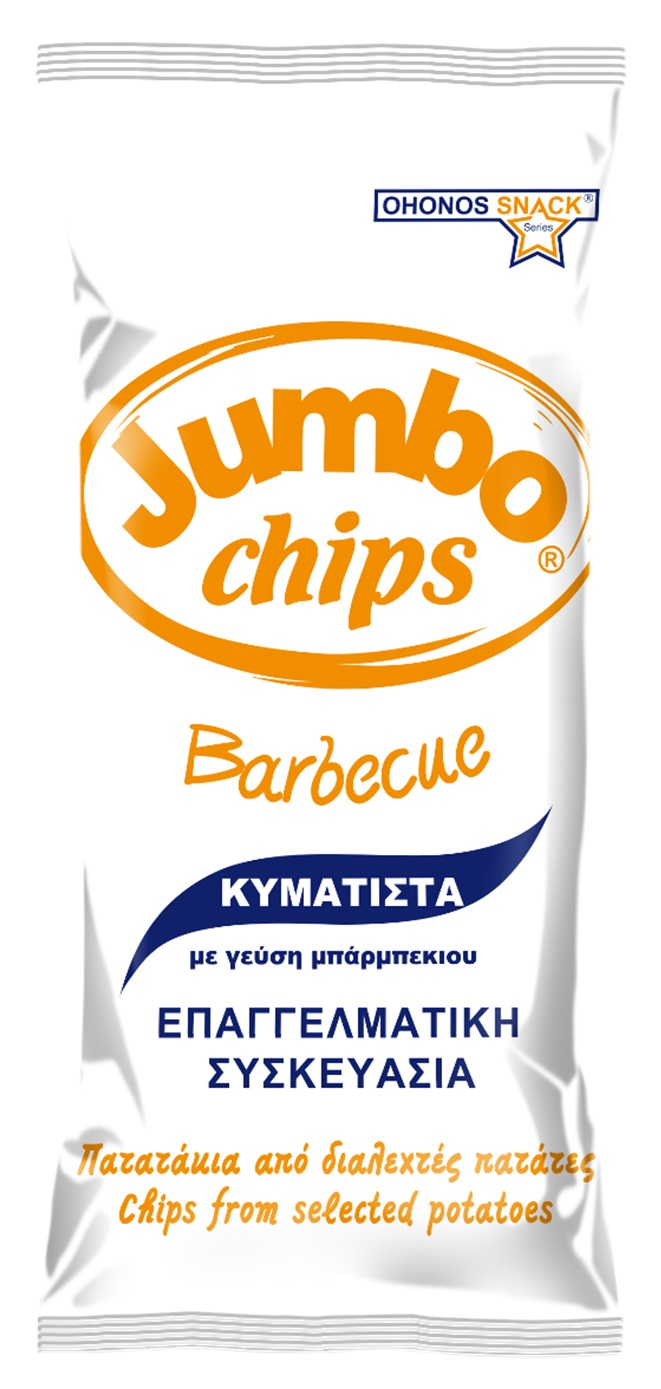 Jumbo Chips Barbeque Κυματιστά 290gr