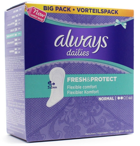 Always Fresh Protect Normal Σερβιετάκια 60τεμάχια