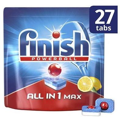 Finish All in 1 Max Lemon Ταμπλέτες Πλυντηρίου Πιάτων 27τεμ