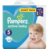 Pampers Πάνες Active Baby Giant Pack (64τεμ) Νο5 (11-16kg)