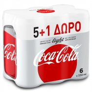 Coca-Cola Light 330ml 5 + 1 Δώρο