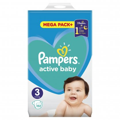 Pampers Πάνες Active Baby Mega Box (152τεμ) Νο3 (6-10kg)