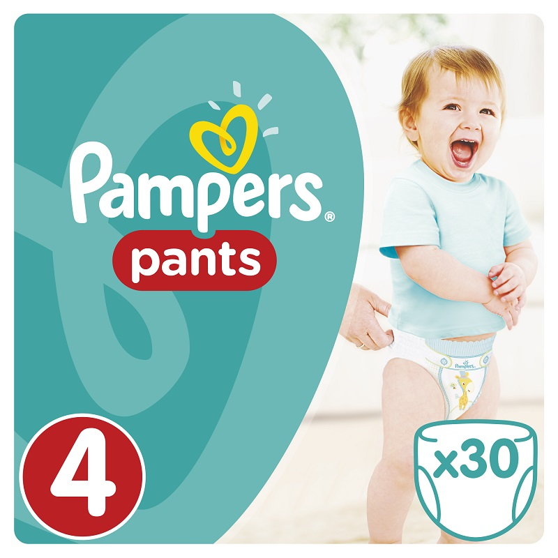 Pampers Πάνες Pants Value Box (30τεμ) Νο 4 (9-14kg)