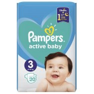 Pampers Πάνες Active Baby Carry Pack (20τεμ) Νο3 (6-10kg)