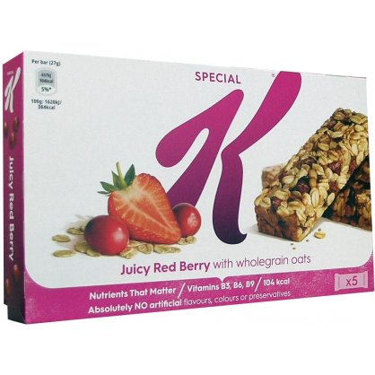 Kelloggs Special K Bars Red Berry 5x27gr