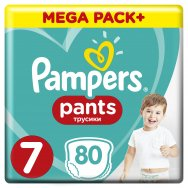 Pampers Πάνες Pants Mega Pack (80τεμ) Νo7 (17+kg)