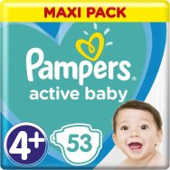 Pampers Πάνες Active Baby Maxi Pack (53τεμ) Νο4+ (10-15kg)