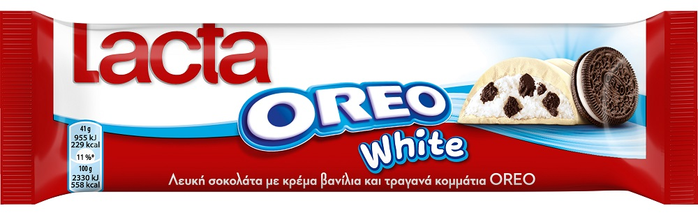 Lacta Μπάρα Σοκολάτα Oreo White 41gr