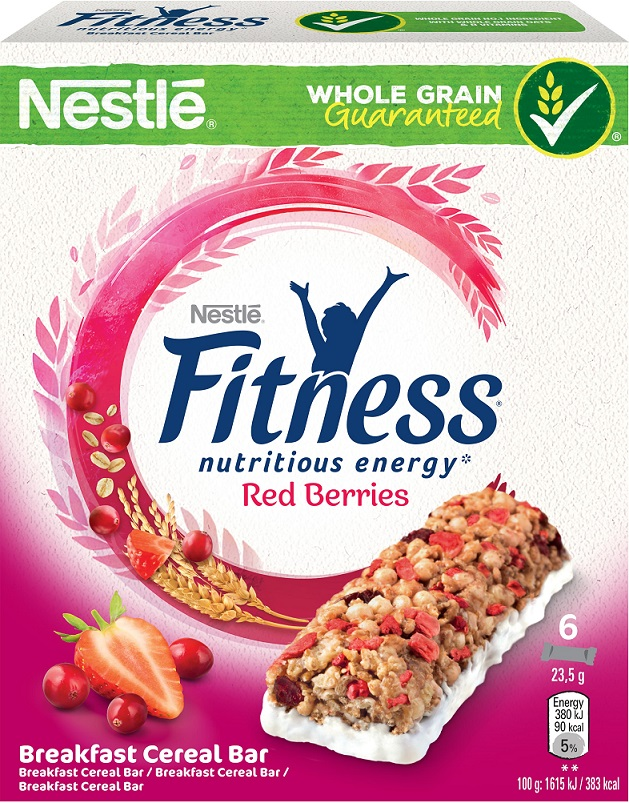 Nestle Fitness Bars Red Berries 6τεμάχια