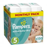 Pampers Πάνες Active Baby Dry Monthly Pack (150τεμ) Νο5 (11-18kg)
