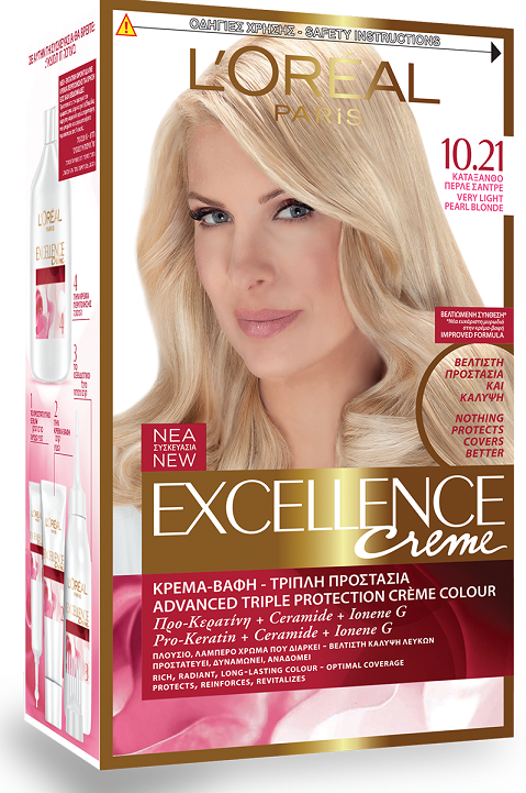 L'OREAL Excellence Cream No10.21 Κατάξανθο Περλέ Σαντρέ 48ml