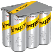 Schweppes Club Soda 330ml 6 τεμ