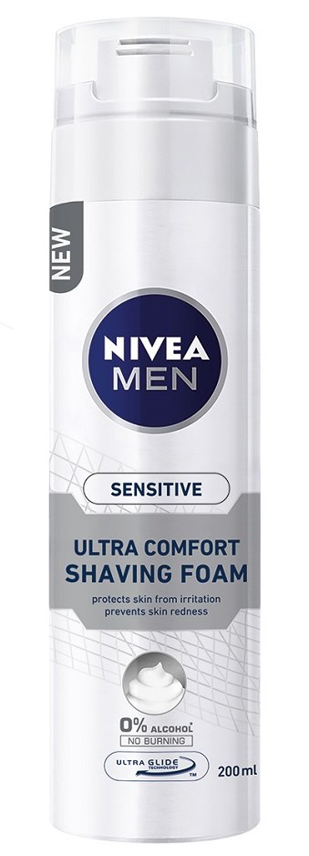 Nivea Sensitive Ultra Comfort Αφρός Ξυρίσματος 200ml