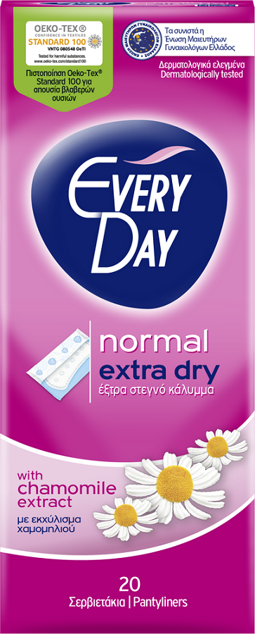 EveryDay Extra Dry Normal Σερβιετάκια 20τεμάχια
