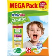 Babylino Sensitive Mega Πάνες 62τεμ No6 (15-30kg)
