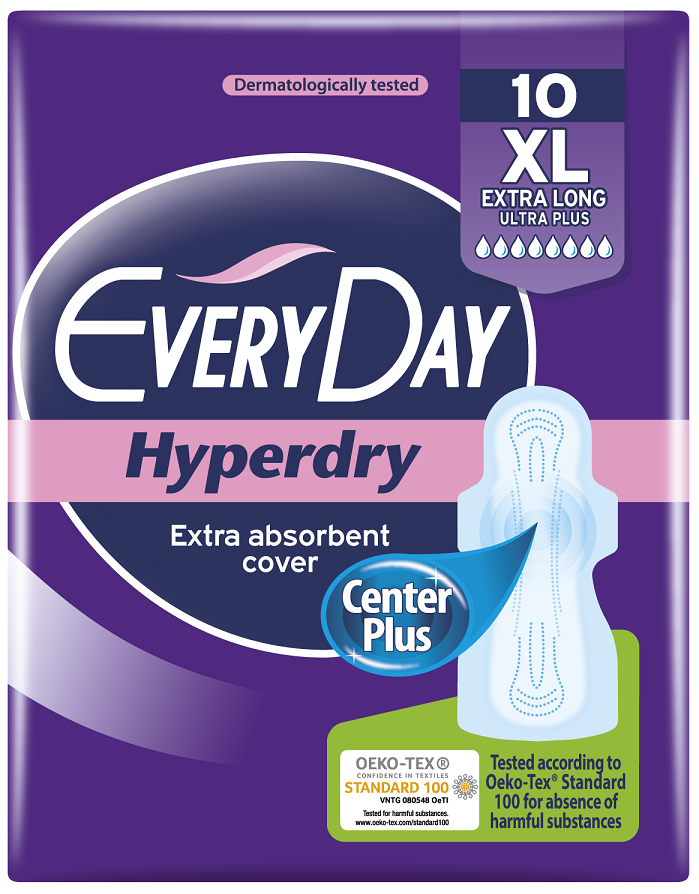 EveryDay Σερβιέτες Hyperdry Ultra Plus Extra Long XL 10τεμάχια