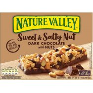 Nature Valley Bars Sweet & Salty Nut Μαύρη Σοκολάτα 4x30gr