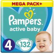Pampers Πάνες Active Baby Mega Box (132τεμ) Νο4 (9-14kg)