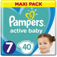Pampers Πάνες Active Baby Maxi Pack (40τεμ) Νο7 (15+kg)