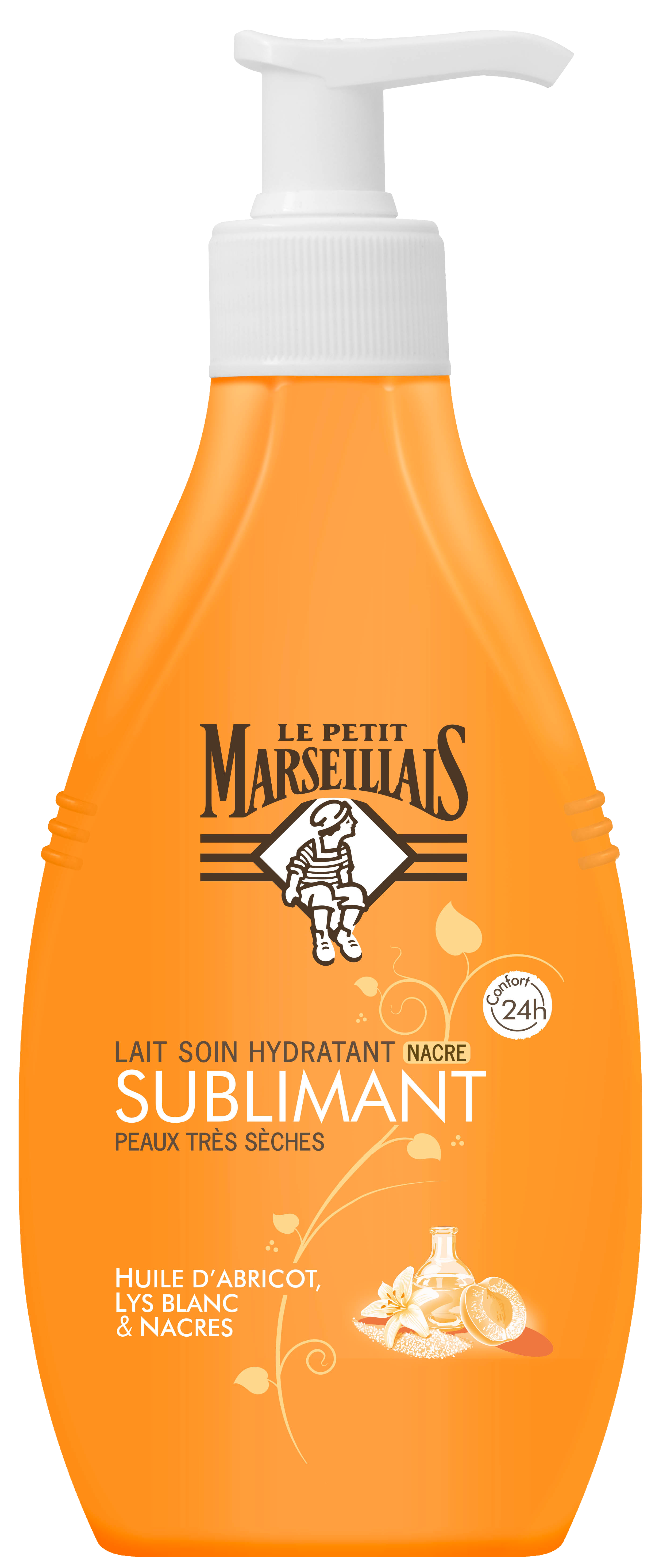 Le Petit Marseillais Apricot White Lilly Body Lotion Αντλία 250ml
