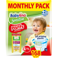 Babylino Sensitive Pants Πάνες Monthly Pack No4 168τεμ (7-13Kg)