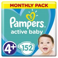 Pampers Πάνες Active Baby Monthly Box (152τεμ) Νο4+(10-15kg)
