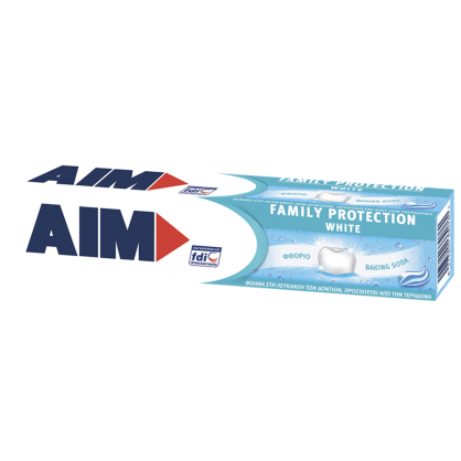 Aim Family Protect White Οδοντόκρεμα 75ml